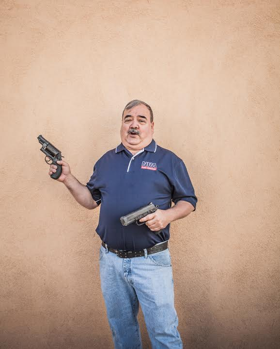 I photographed Anthony in Albuquerque, New Mexico. His wife is a Mexican immigrant but he is a Trump supporter and avid 2nd amendment advocate. Despite loathing Obama he was receiving healthcare under the Affordable Care Act, something he previous didn't have or could afford– otherwise known as Obamacare.