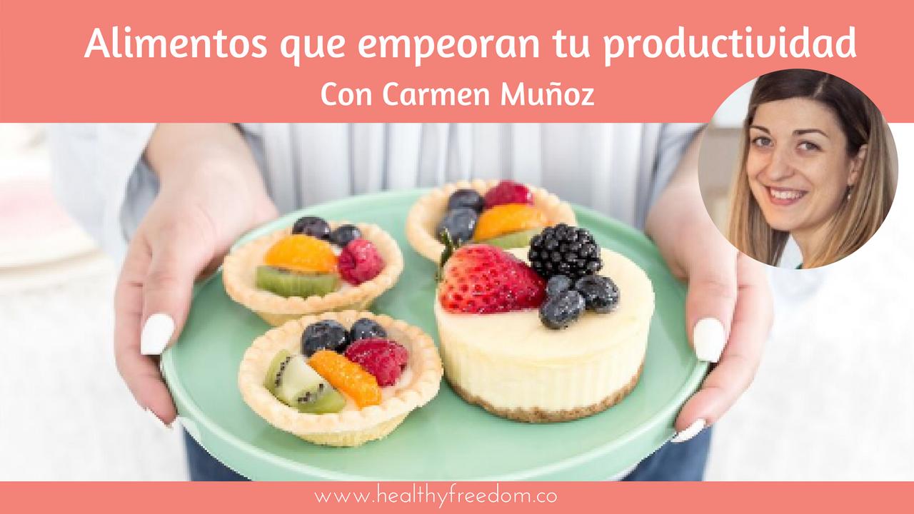 alimentos que empeoran tu productividad