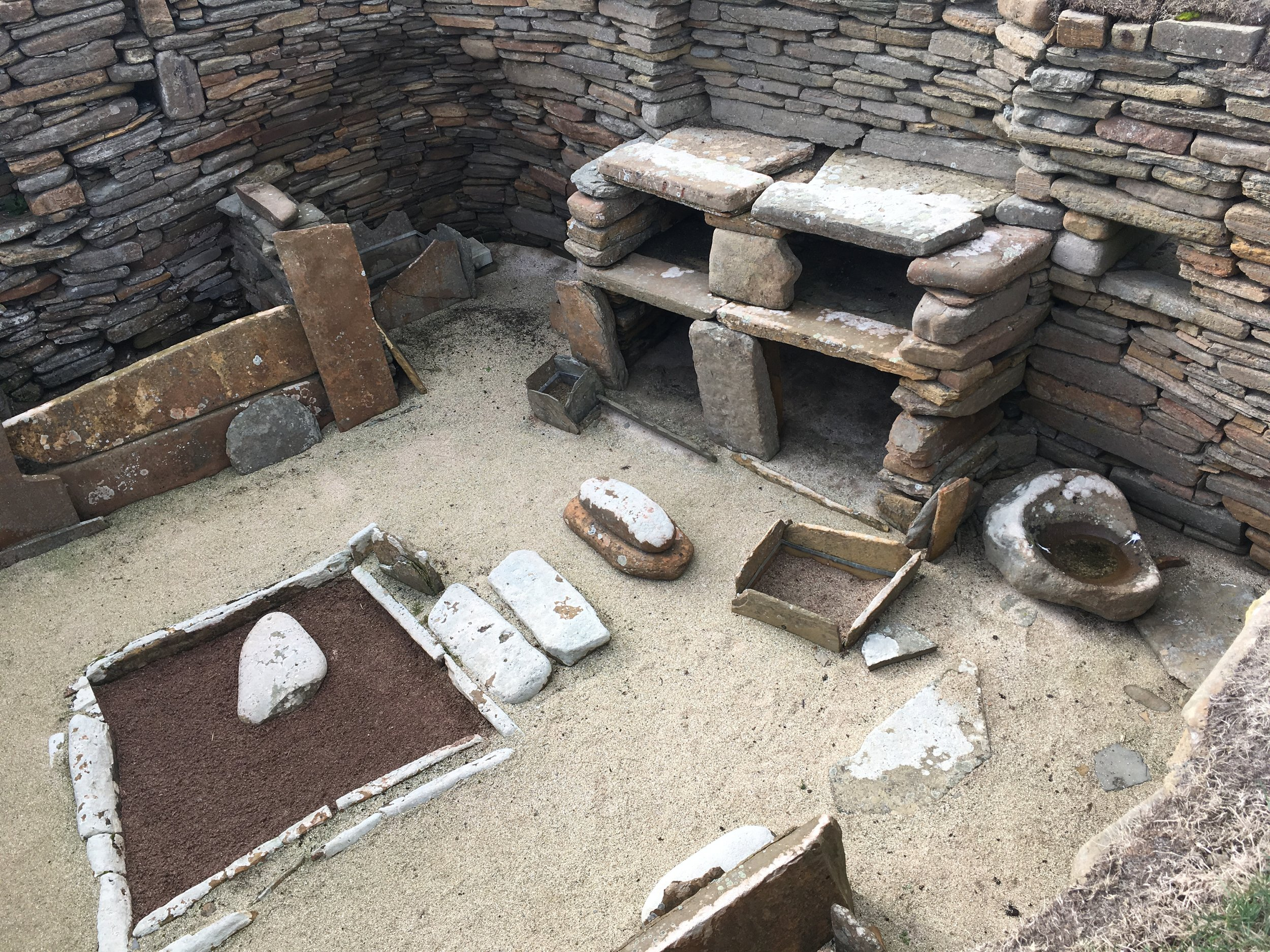 Neolithic Interior | Box beds, mantlepieces and indoor pools for keeping fresh catch, an interior designed around human behaviour and necessity.