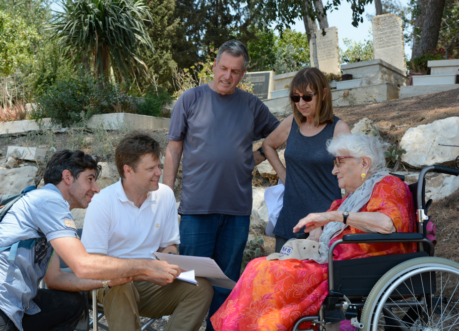 Co-Directors Daniel Master and Mario Martin meet with Ruth Dayan,Head of the Jezreel Valley Regional Council Eyal Betser and Zohar Betser.