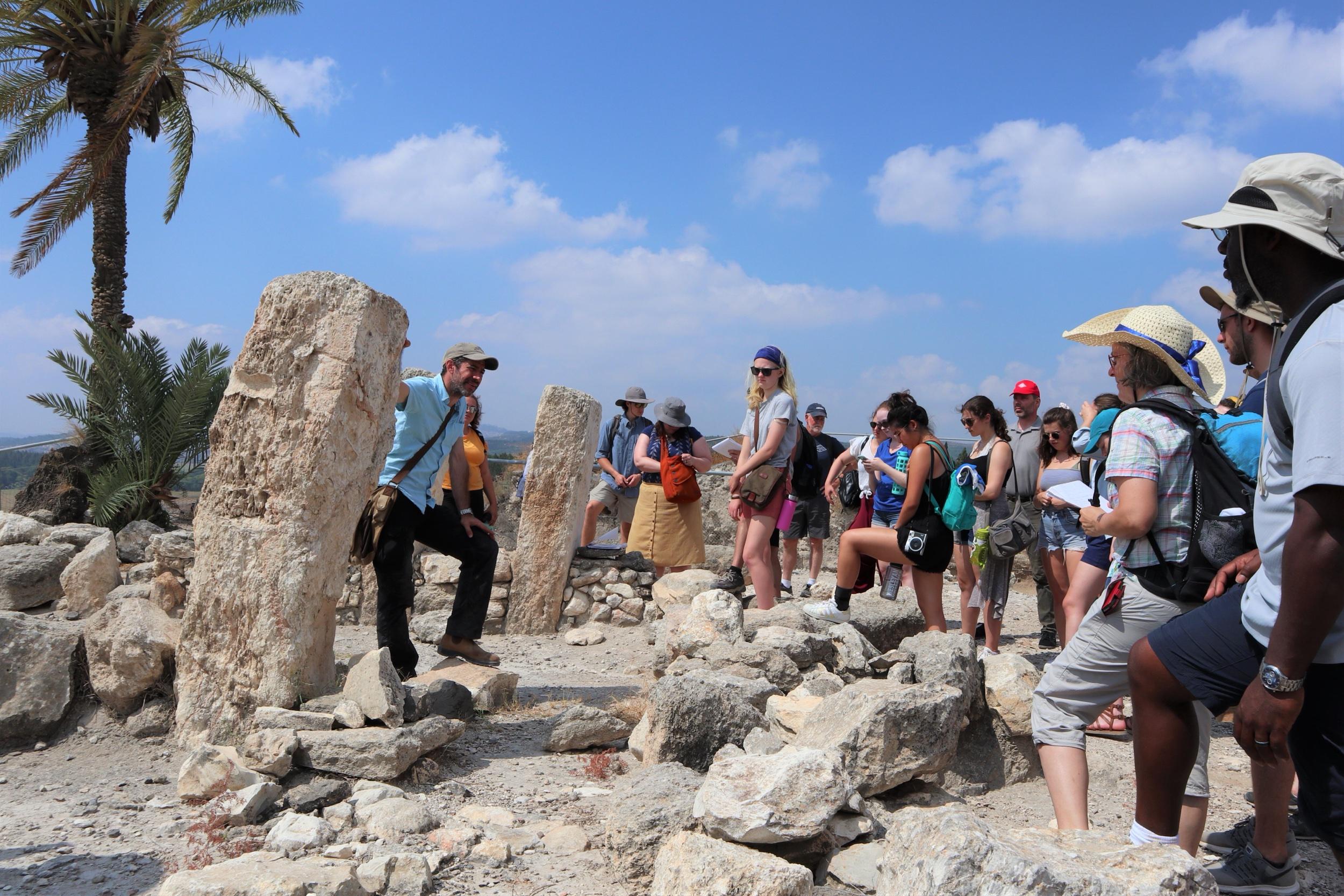 Co-Director Mario Martin leads a tour of Megiddo