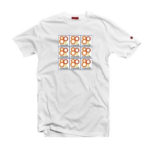 281f9c14 80s Casuals 'Original Logo Grid' T-Shirt / White. grid%2Bwhite%2Bj.jpg