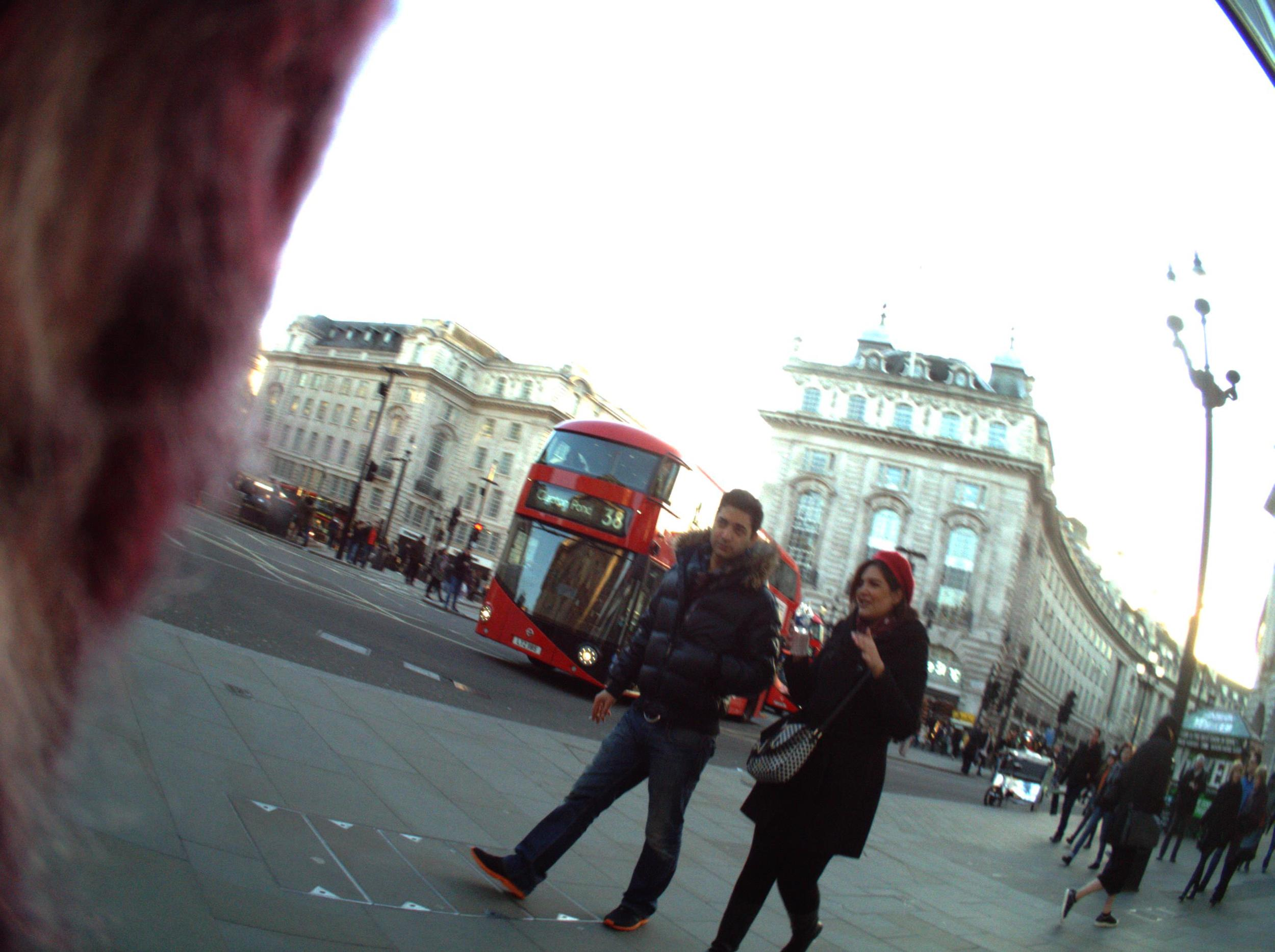 Image 02. Experimenting with methods - Image taken automatically while walking around Piccadilly Circus, London. 02 February 2015.