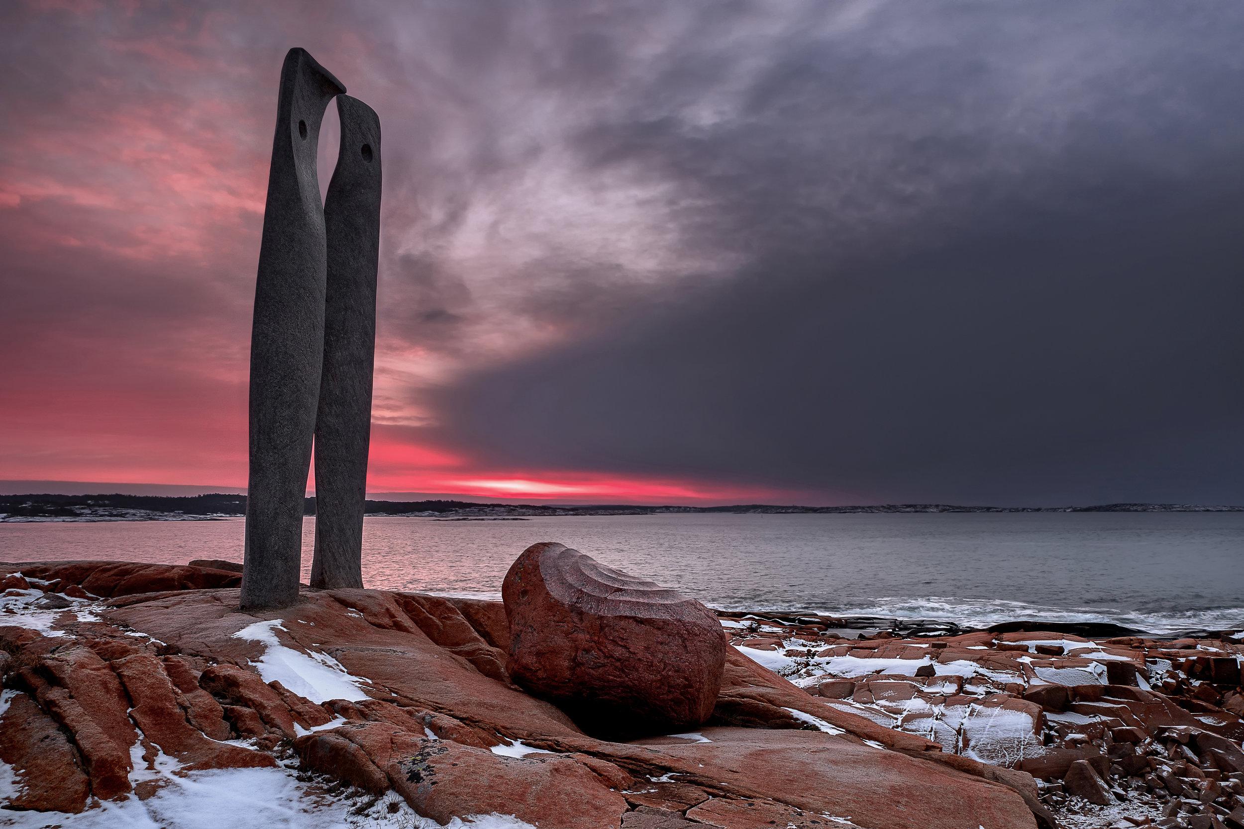 Rødshue Skulptur kunstpark hvaler kirkøy fredrikstad foto