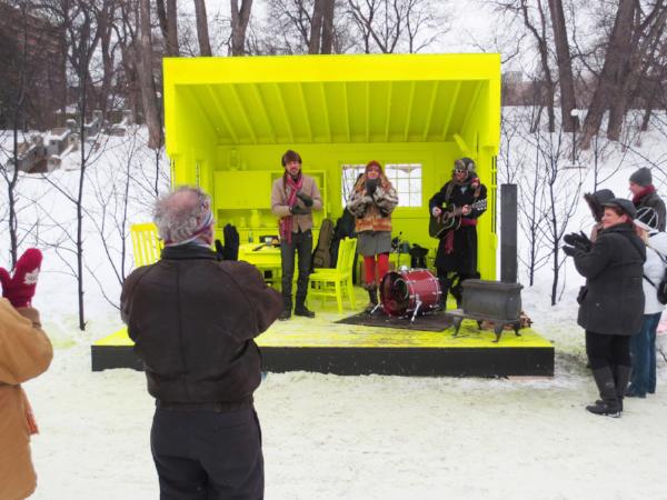 Some images from Matt Roper's PKN 27 presentation 'Winter River Pavilions'