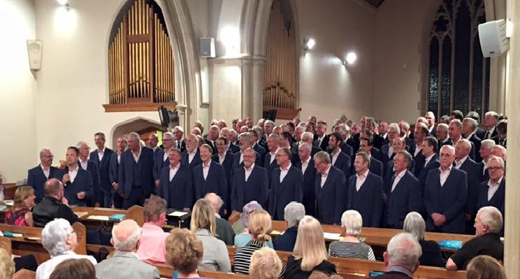 The Bournemouth & Mousehole Male Voice Choirs performing at St Mary's Church