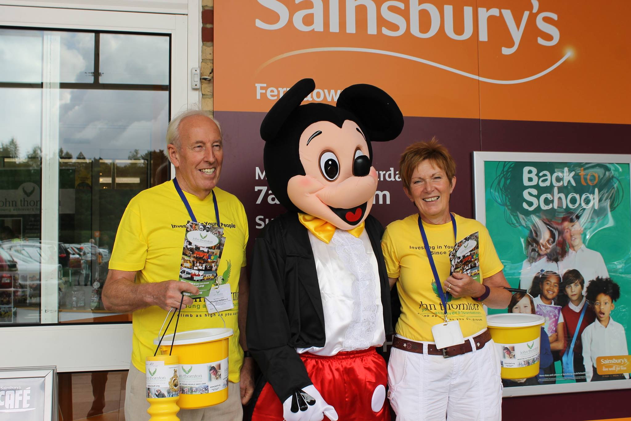 Trustee Maurice Patterson, mickey mouse and linda thornton