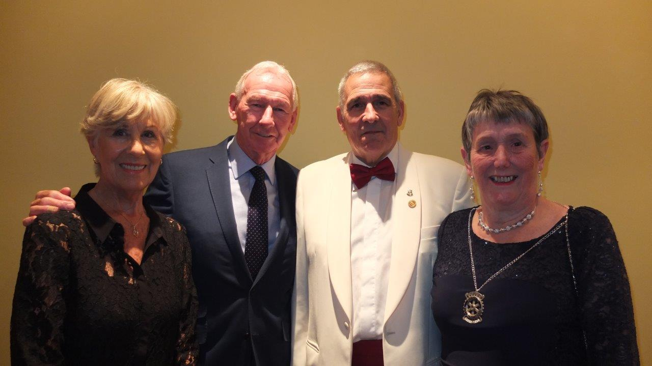 Bob and Megs Wilson with Derek Radley and Sue Young from Wimborne Rotary Club - photo courtesy of John Gully