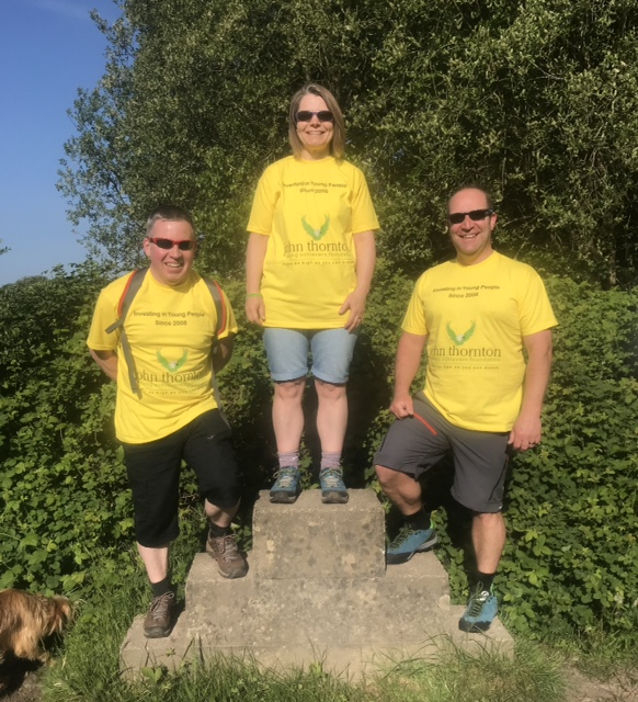 Claire, Ricky and Richard pictured above during one of their training walks.