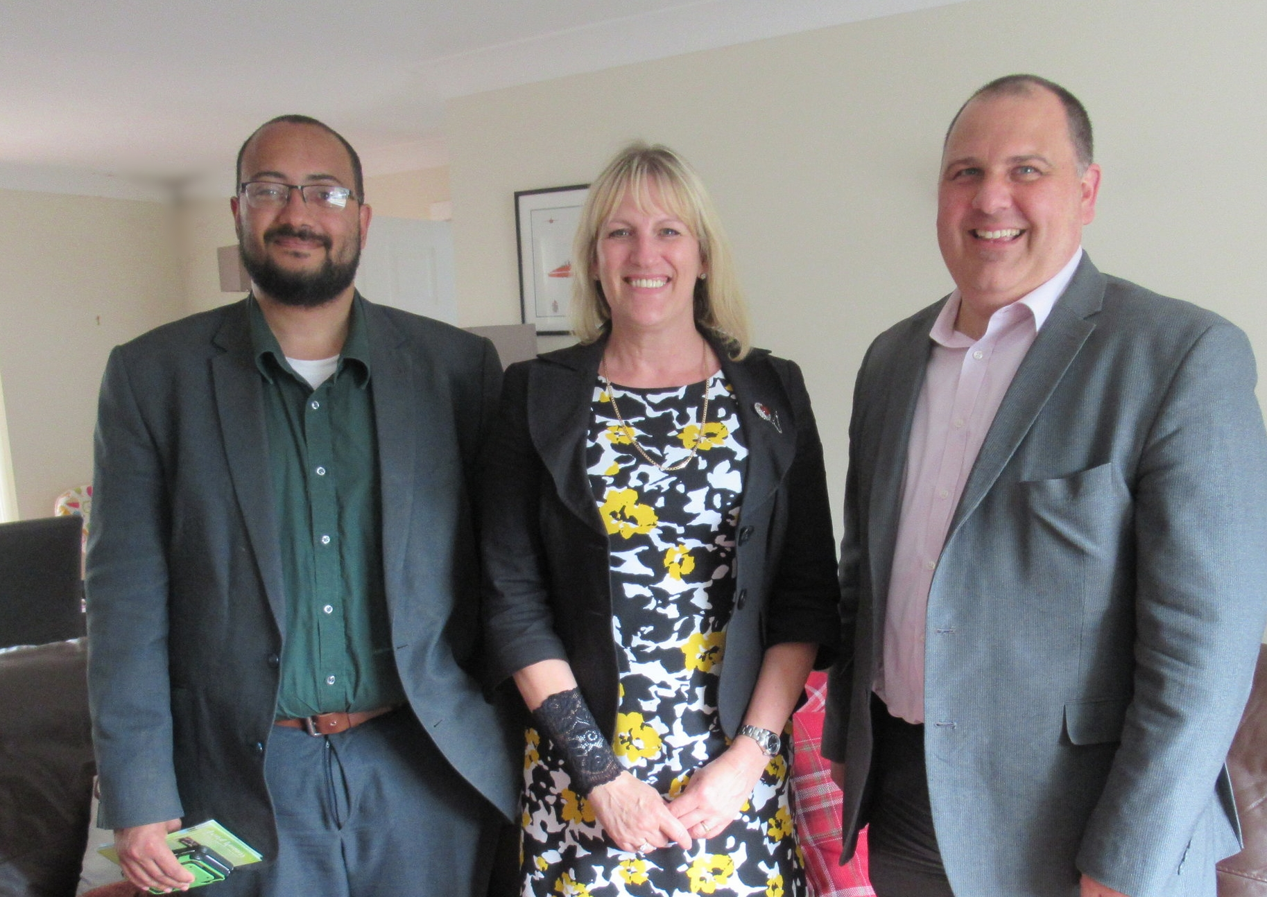 From left to right, Enterprise Dorset Area Manager, Linda Ladle, Careers & Employability Manager at Bournemouth University and Paul Hanrahan, Enterprise Talent Acquisition Manager, Sound Coast and Central Region.