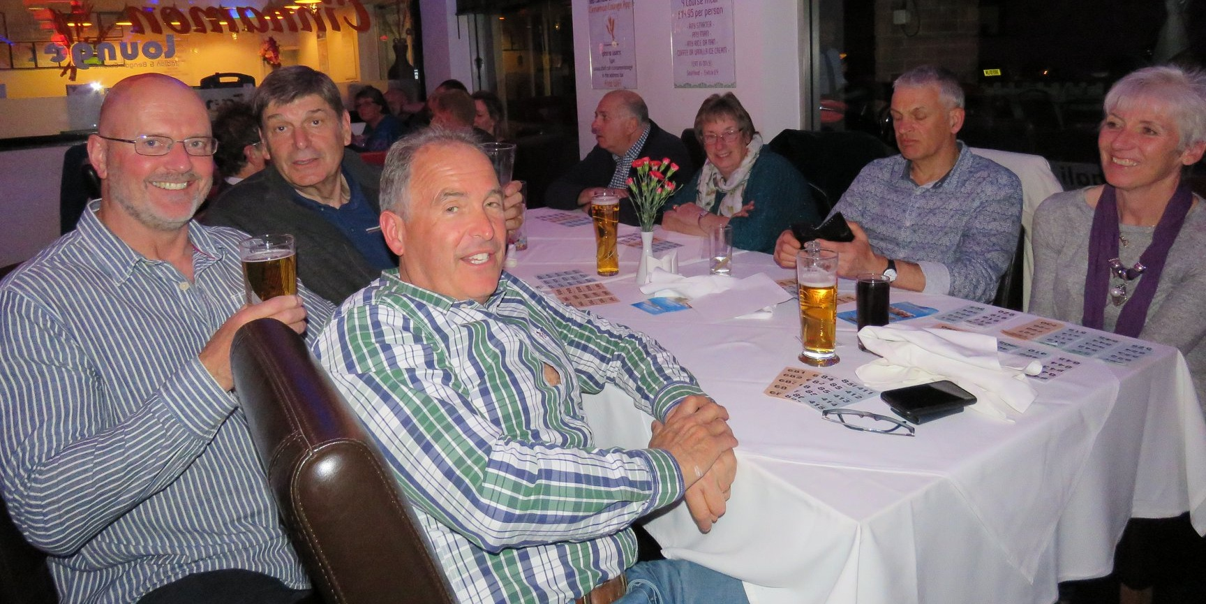 Paul Hooker far left - organiser of the 4th JTYAF Curry Night - photo courtesy of Mags4Dorset