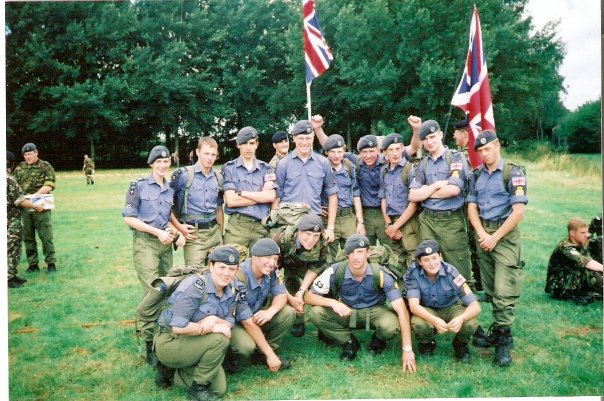 Dorset & Wilts Wing Air Cadets Nijmegen Team in 2001