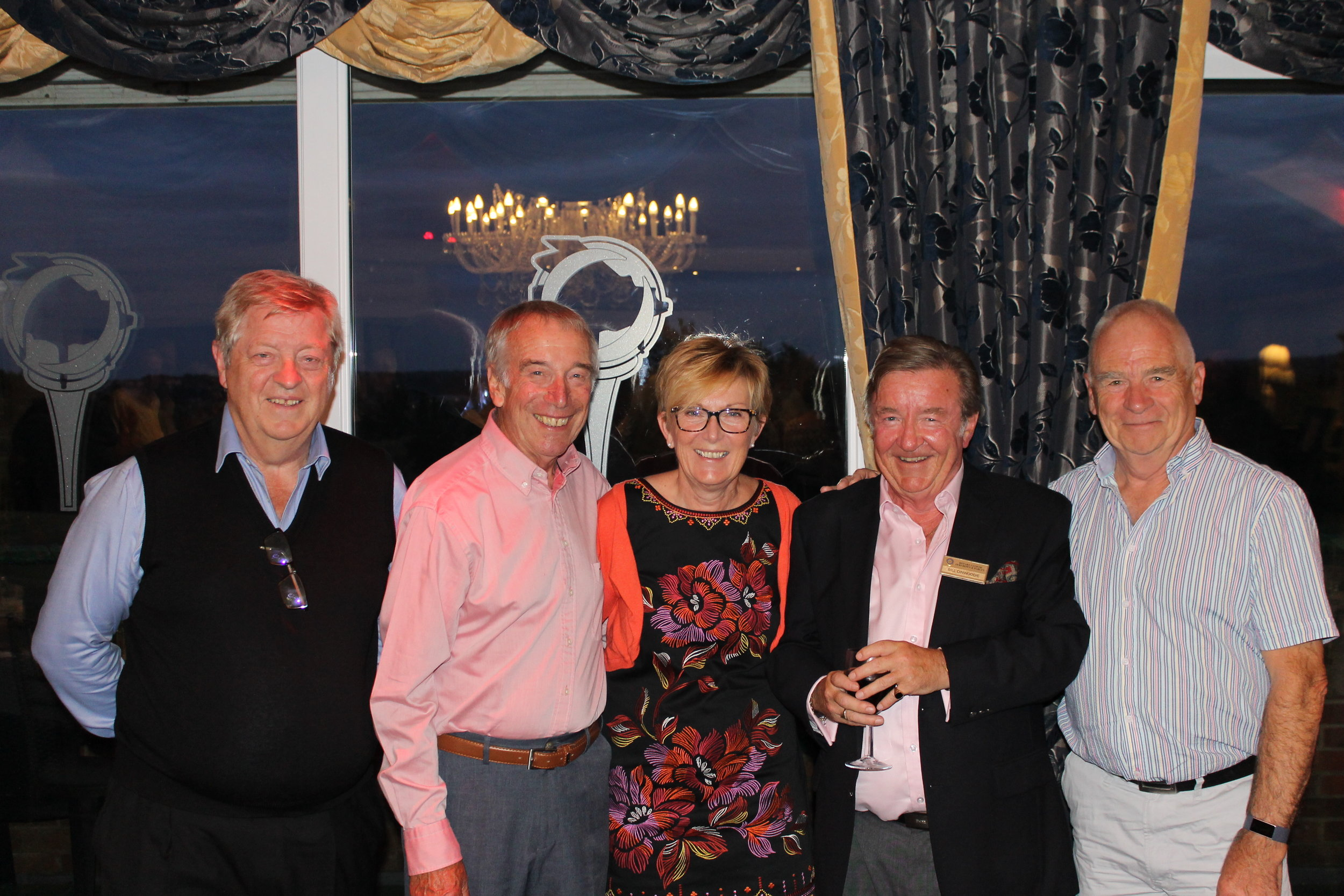 LtoR - Outgoing President of Ferndown Rotary Club, Charlie Pellatt, Ferndown Rotarian, Keith Adams, Linda Thornton, Ferndown Rotarian, Bill Dinwoodie, & Pete Thornton - at the recent cheque presentation