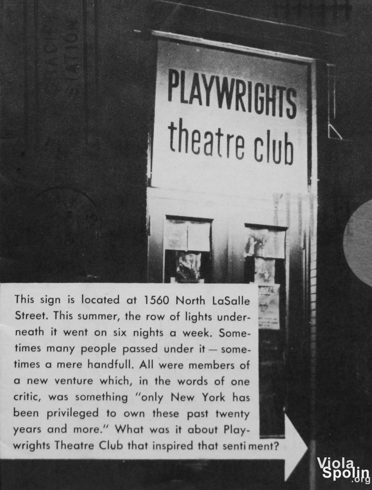 Compass and Playwrights Theater Club