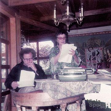 Paul Sills and Viola Spolin, 1974