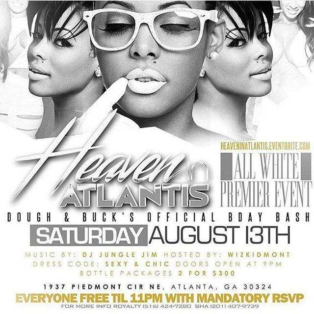 Tonight @AtlantisAtlRestaurant_ all white event! RSVP for free admission  #AtlantisAtlanta #ATLNightLife #ATLEvents #AtlantaSummer #ATLHotSpot #AtlantaFoodie #AtlantaFridays #AtlantaLounges #AtlantaDrinks #Hookah #Drinks #Lifestlye #AtlantaLifeStyle #UpScale #FoodNEnterntainment #ThrowbackThursday #MidtownLounge #BuckheadLounge