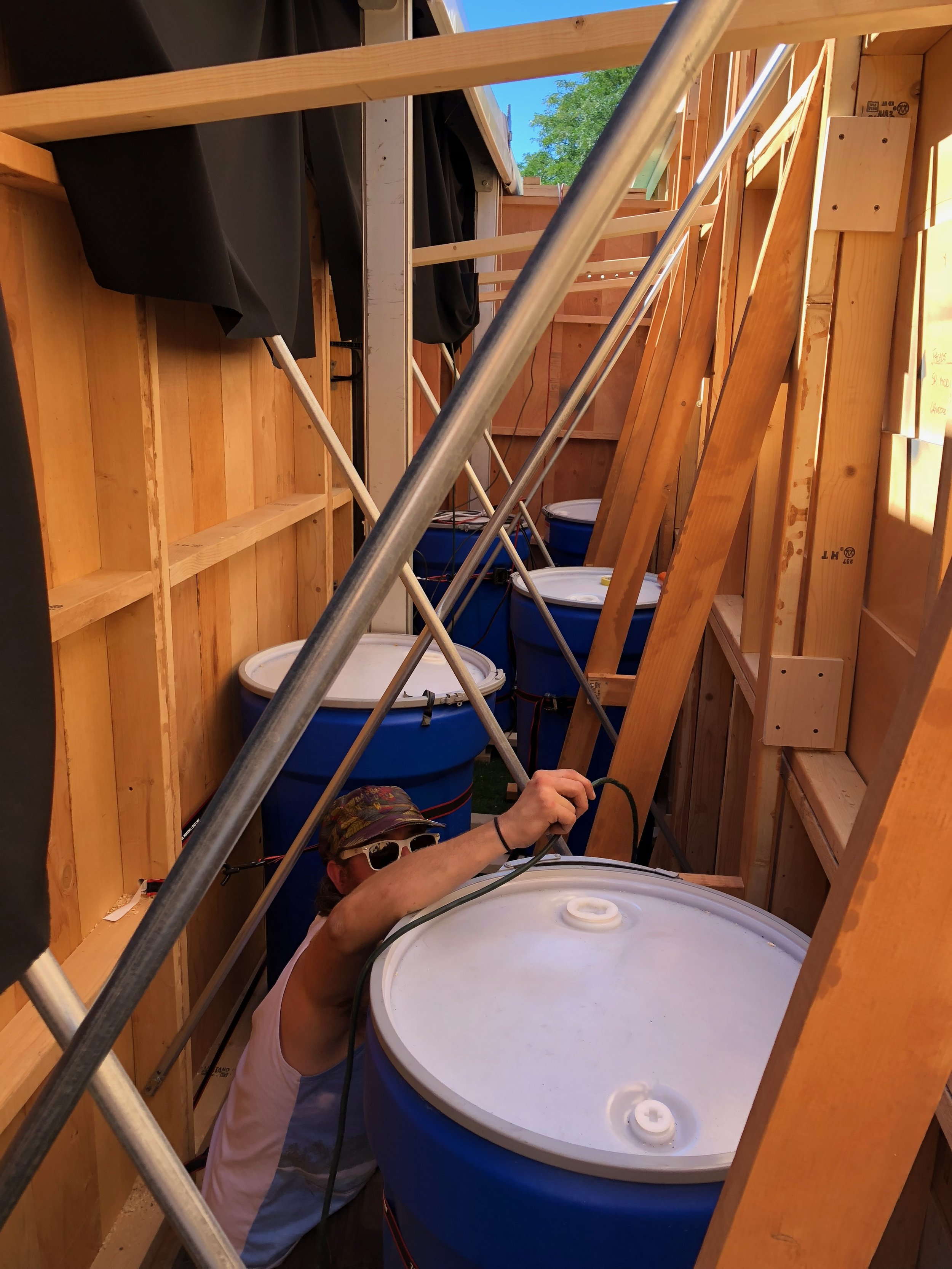 Making the magic safe: water ballasts and cross bracing.