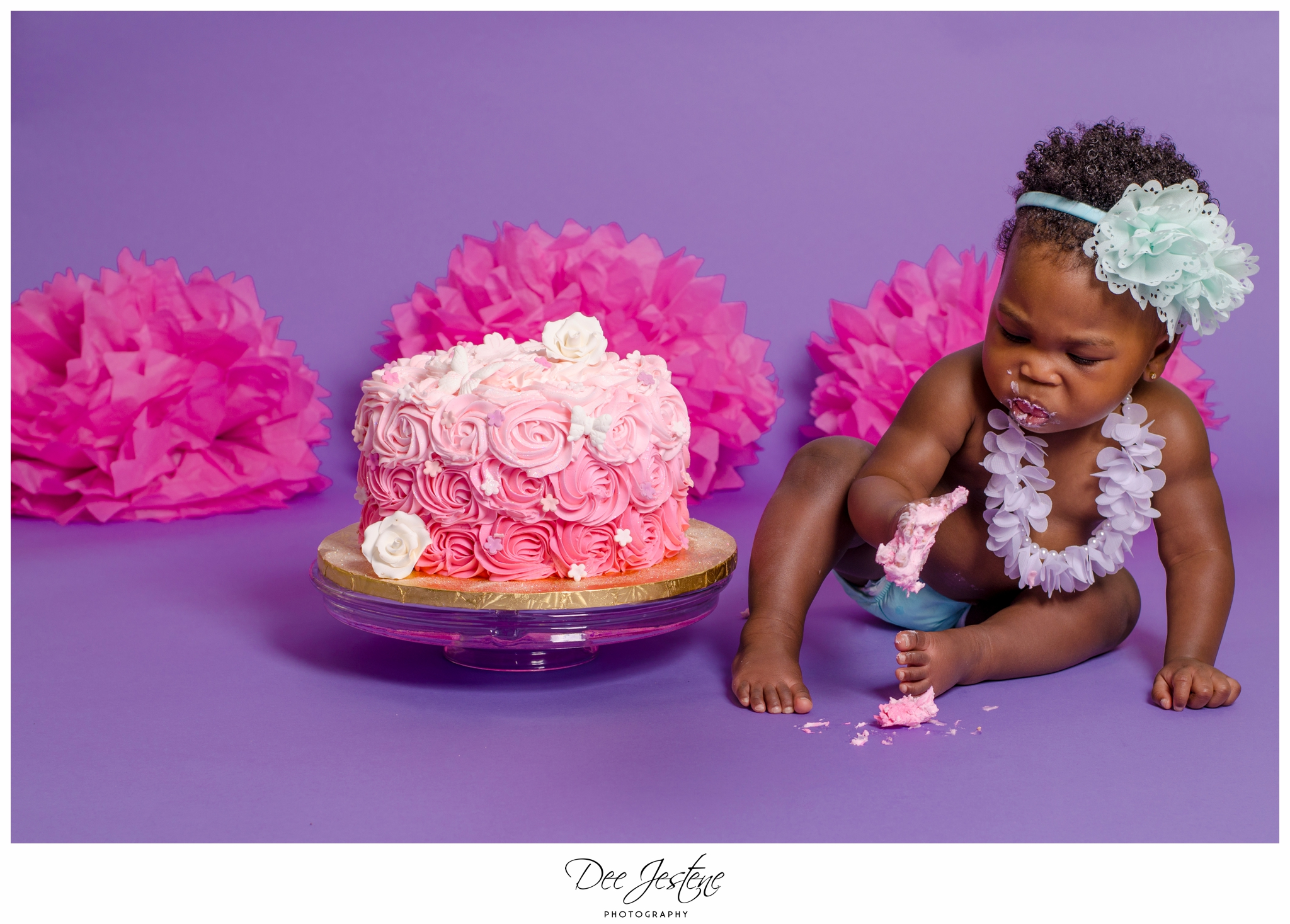 Birthday Girl Cake Smash Cake