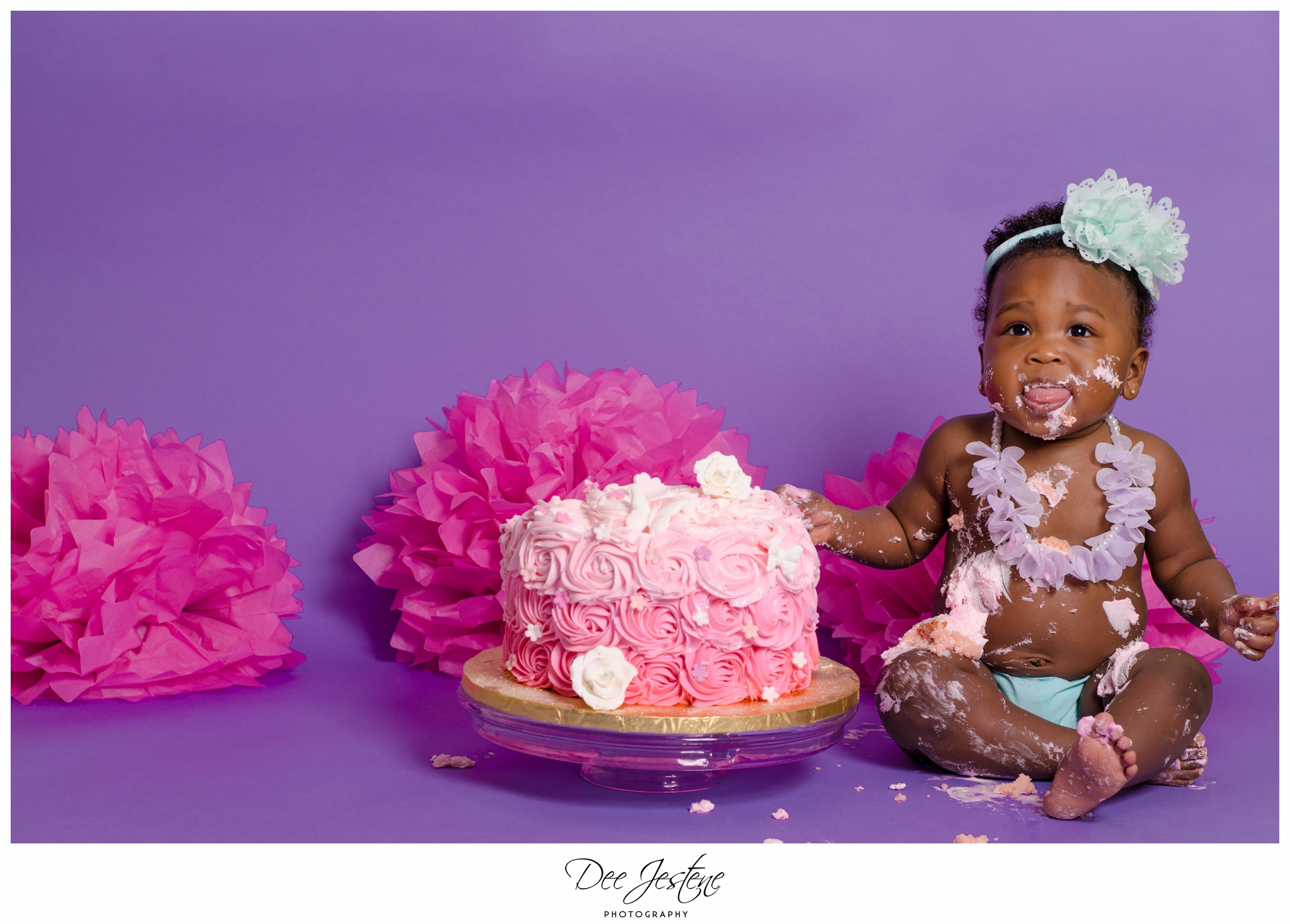 Messy 1st Birthday Cake Smash Cake