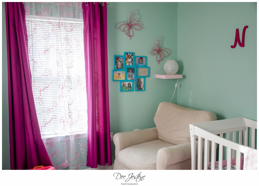 Teal Raspberry and Pink Nursery Baby Room 0009.jpg