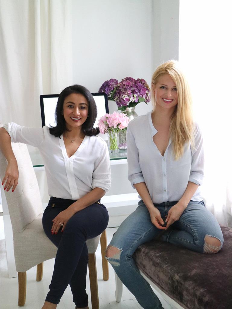 Founders, Gayatri on left, Sarah on right