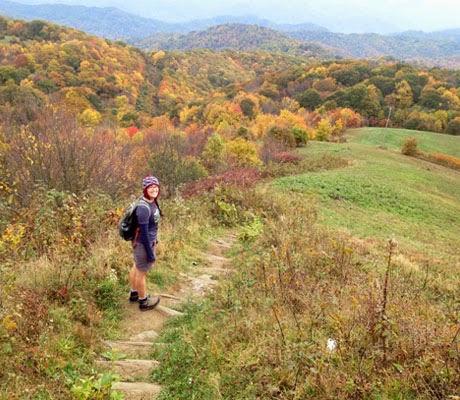 Founder, Sarah Knapp on a hike.
