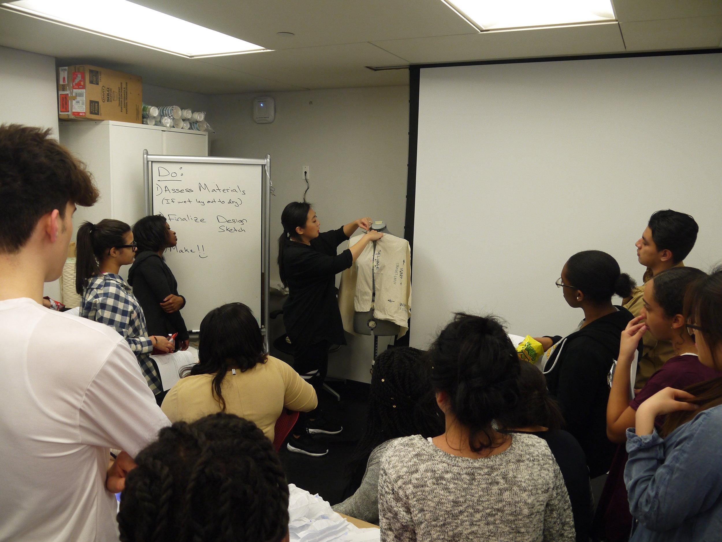 Sena Yang at The Cooper Hewitt Design Museum Workshop