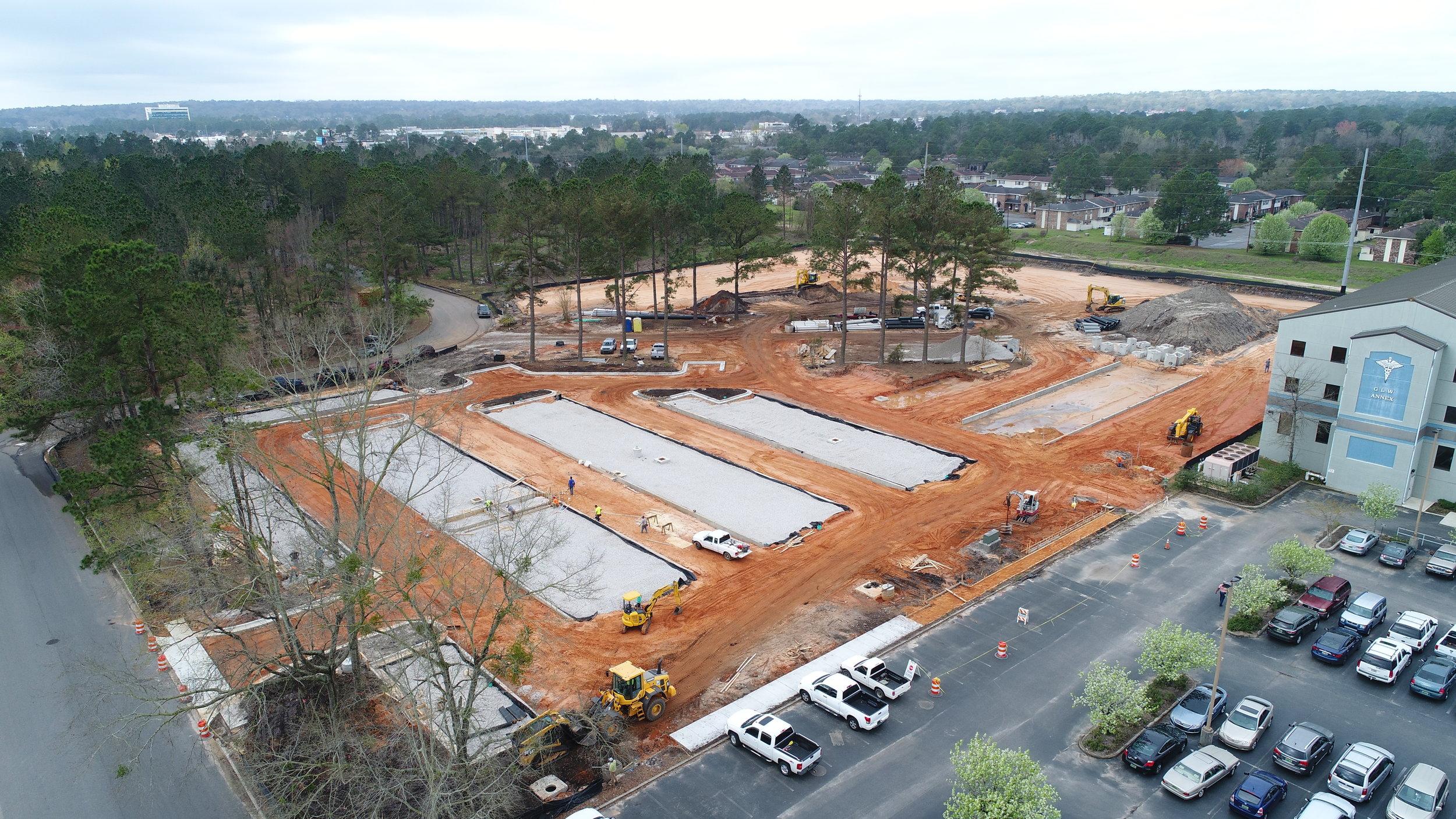 Springhill Medical Center - Delaney Employee Parking Lot  Utilizing Green Infrastructure Solutions