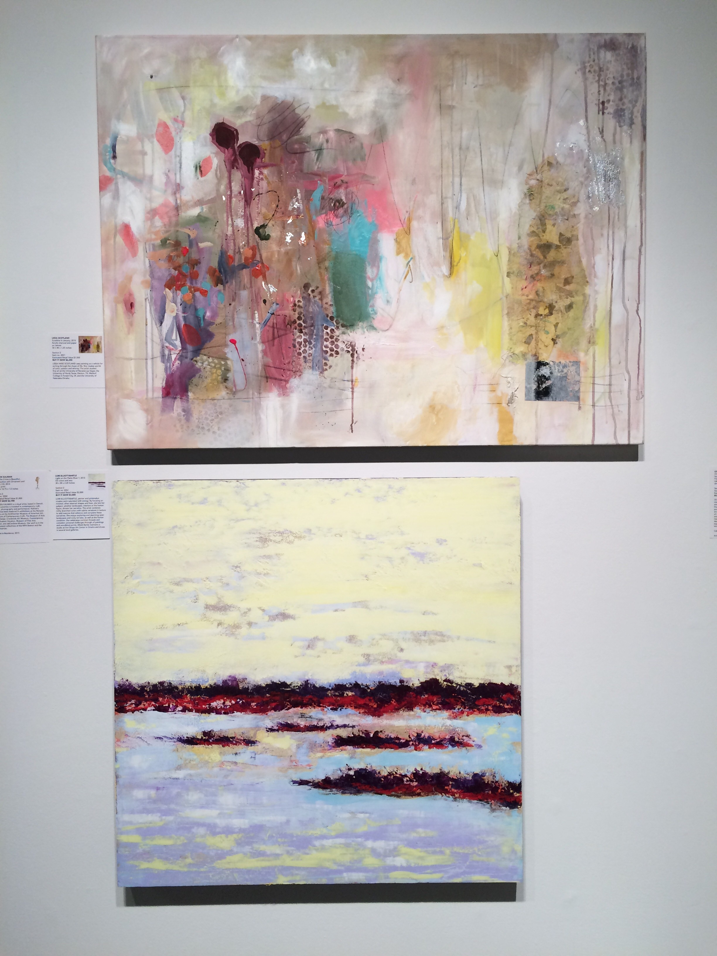 My painting in the Bemis gallery, section 2.