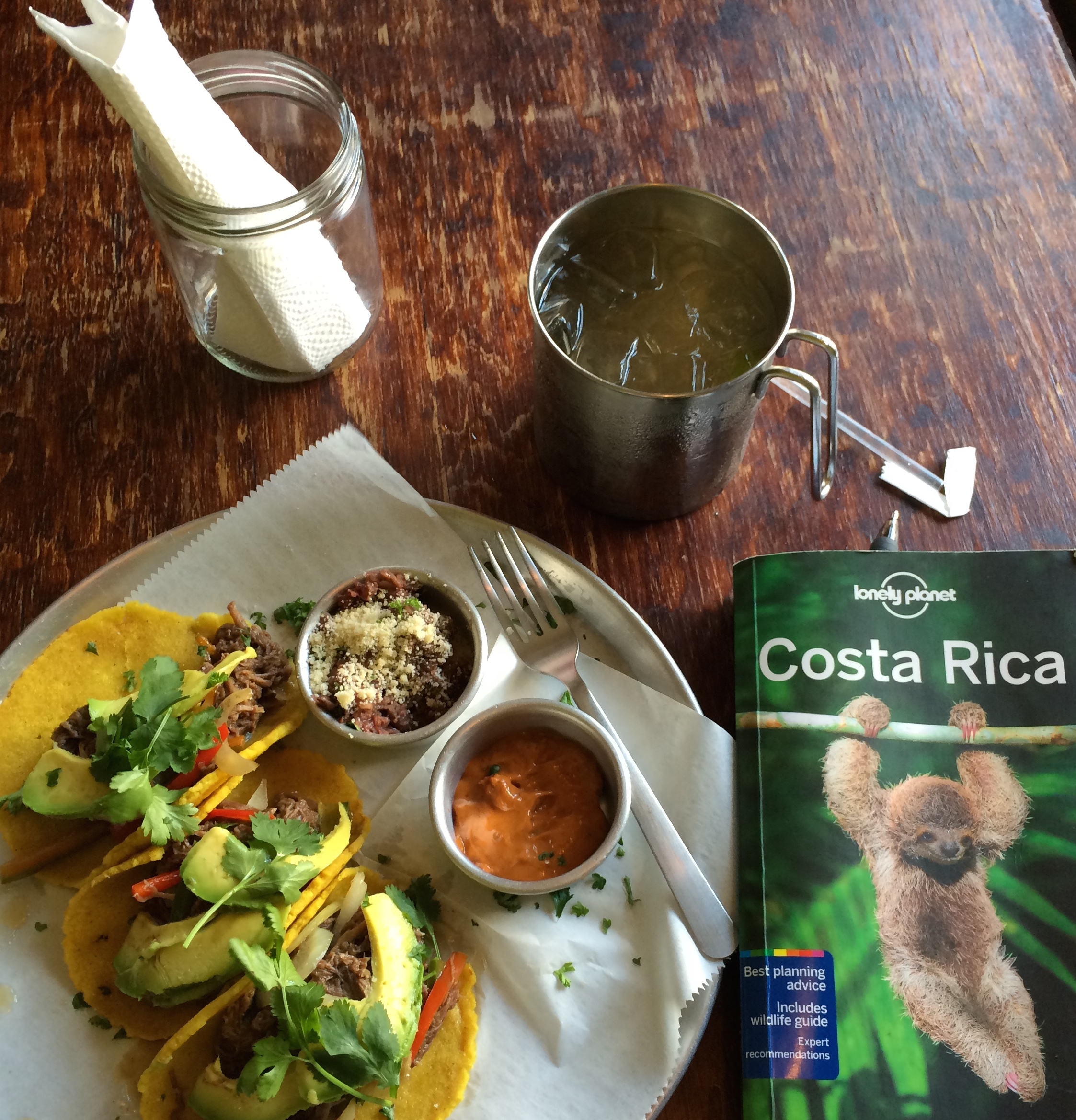 first meal in Costa Rica, and a very delicious one!