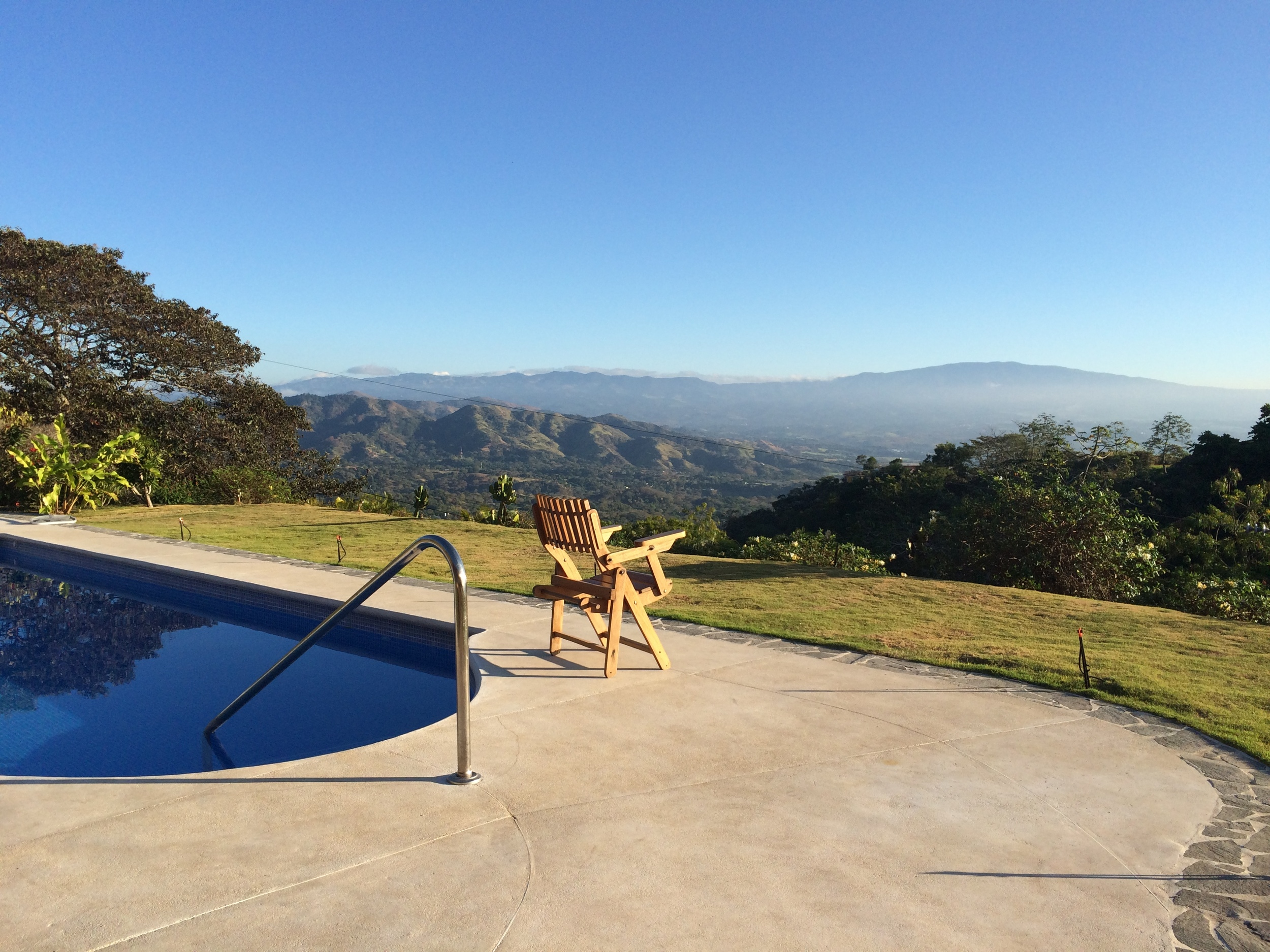 View into the Central Valley from poolside.