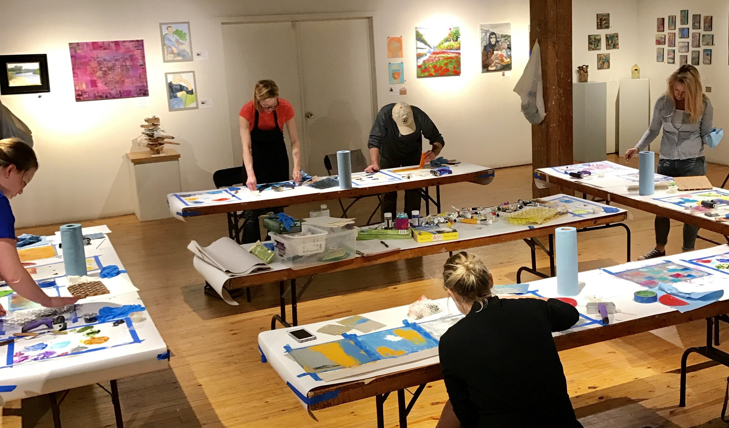 A recent workshop, held in gallery space at Hot Shops Art Center, Omaha, Neb.