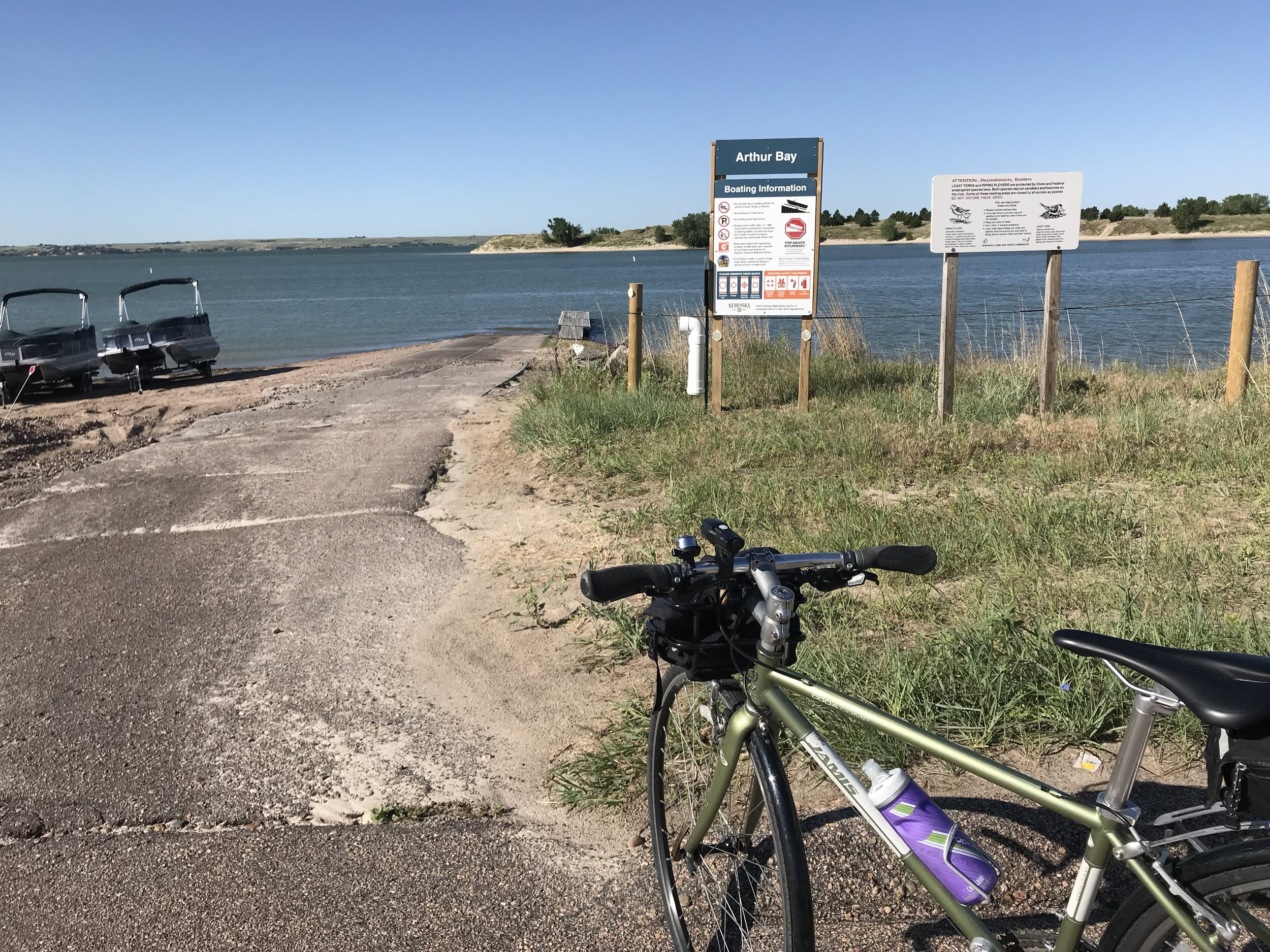 Sage was the perfect mount for exploring around Lake McConaughy