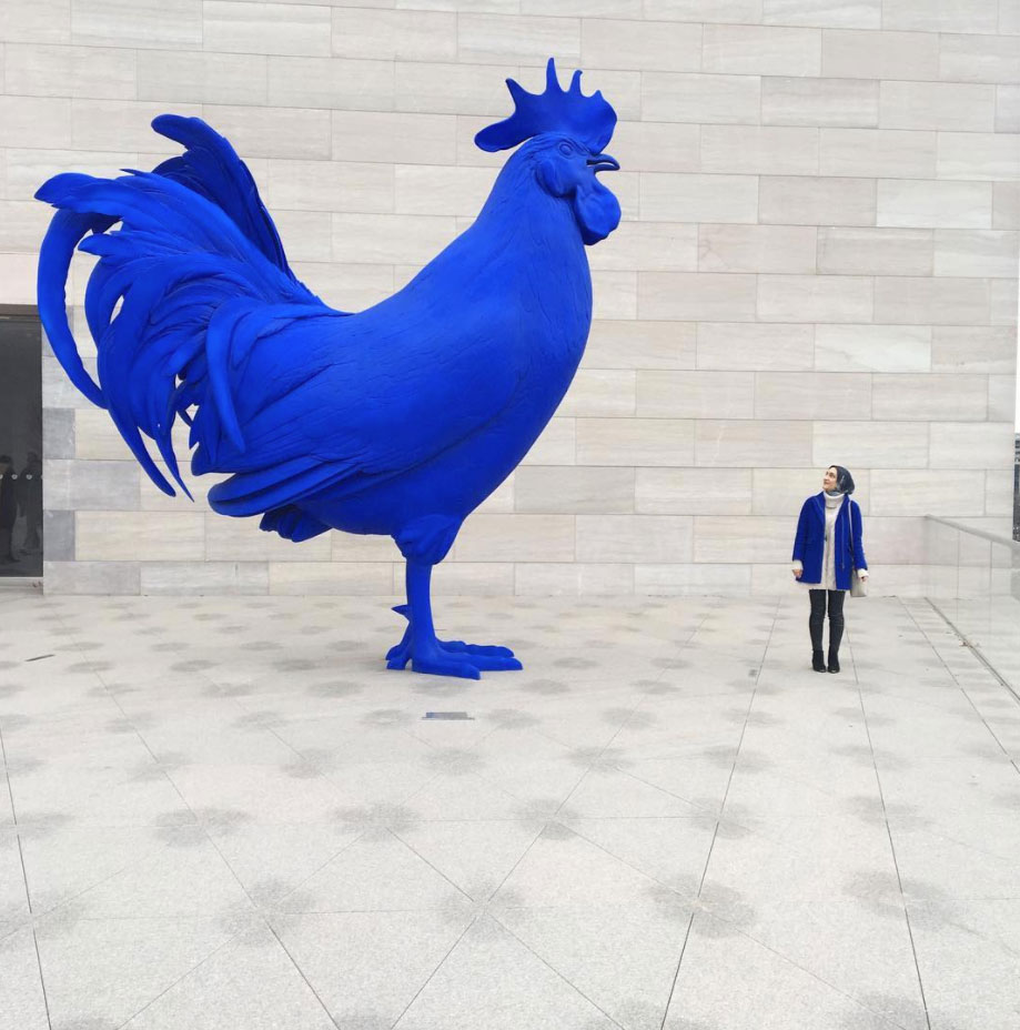 Hahn/Cock by Katharina Fritsch. That cobalt blue just thrums! photo from Washington.org