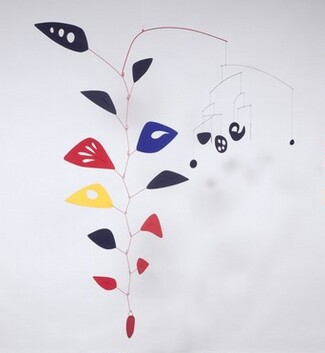 Cascading Flowers, painted metal, painted wire and wire, by Alexander Calder, 1949, photo from National Gallery web site