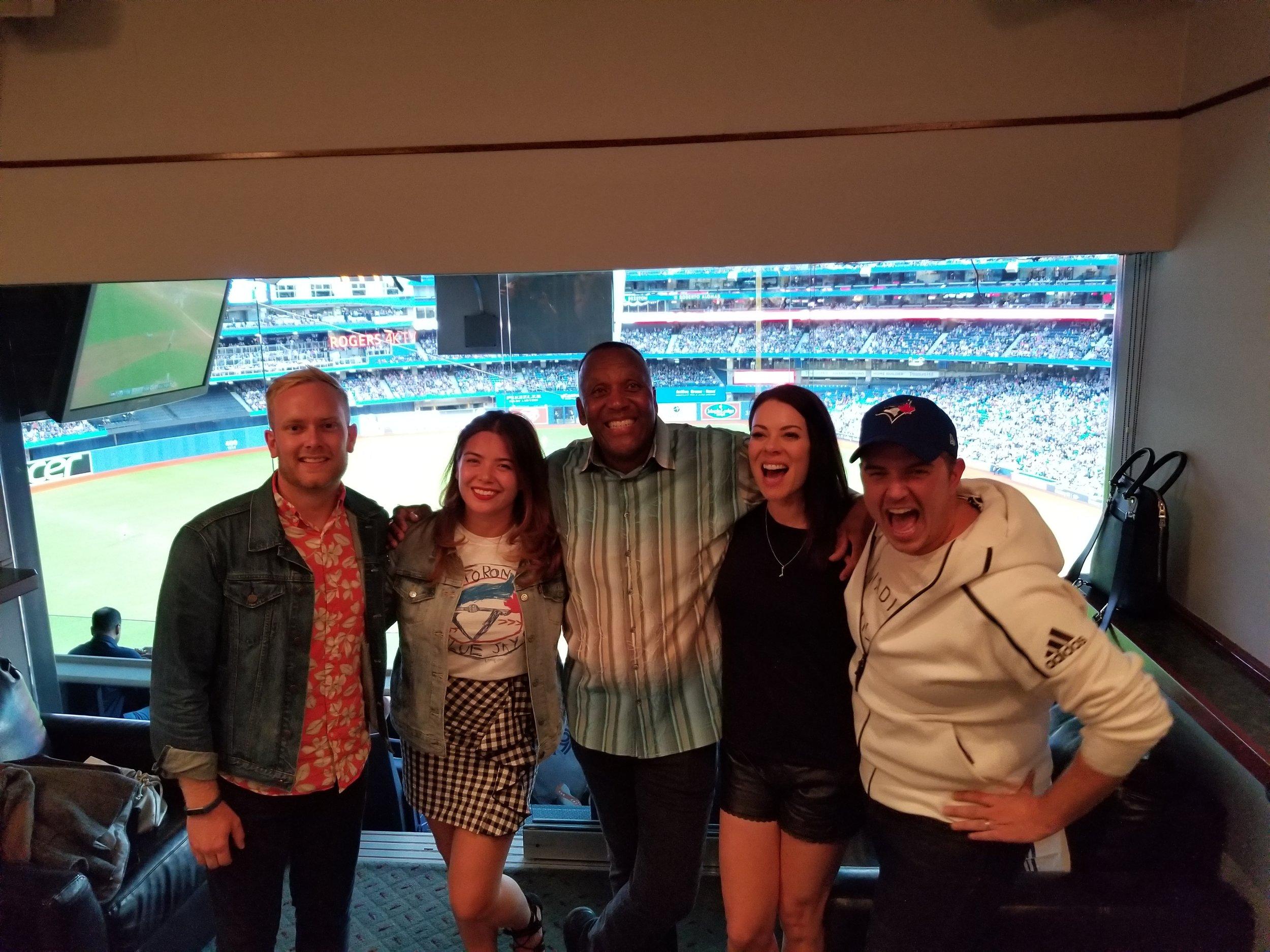 We even got to meet Joe Carter!