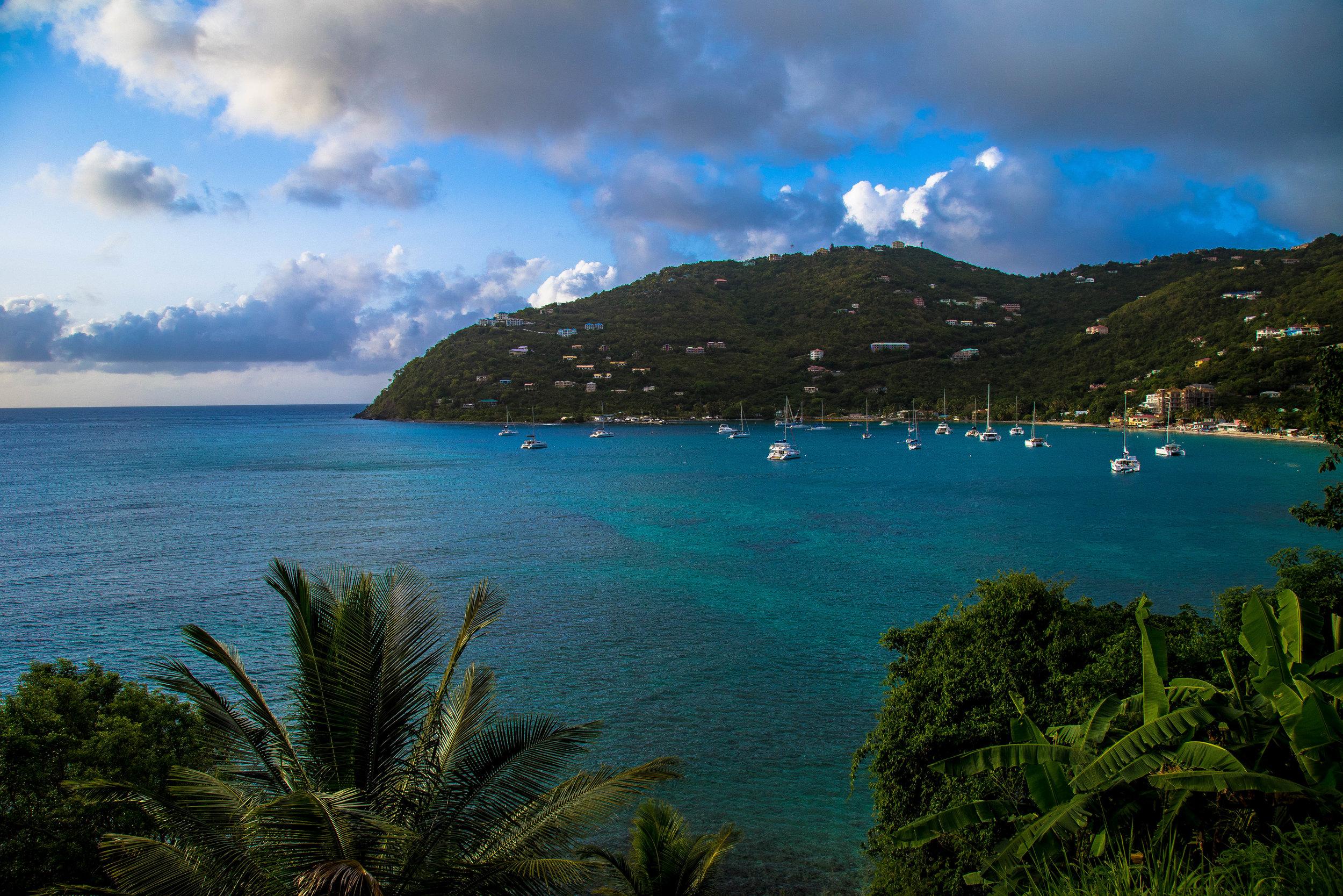 The view above Cane Garden Bay.