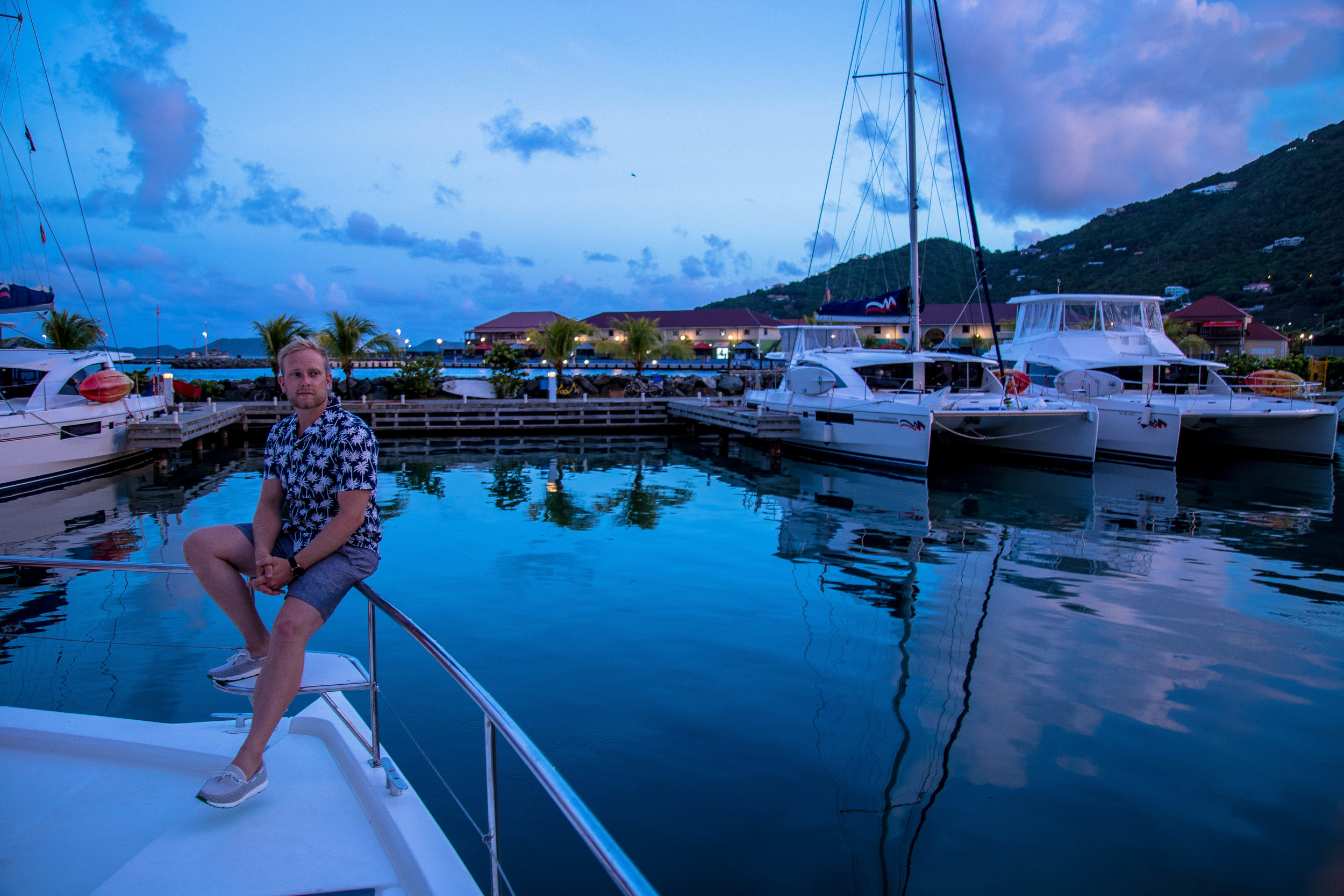 Our last night at the Moorings Marina.