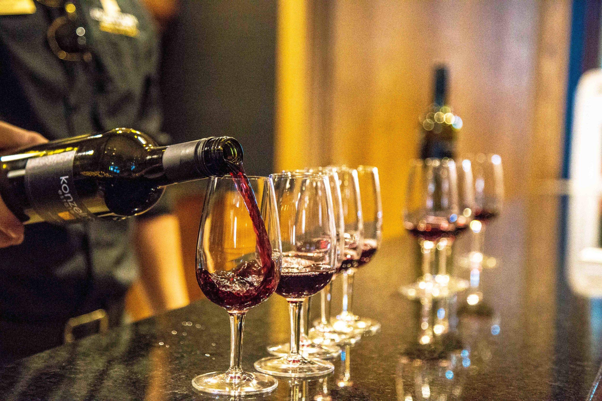 Wine tasting at Konzelmann Estates.