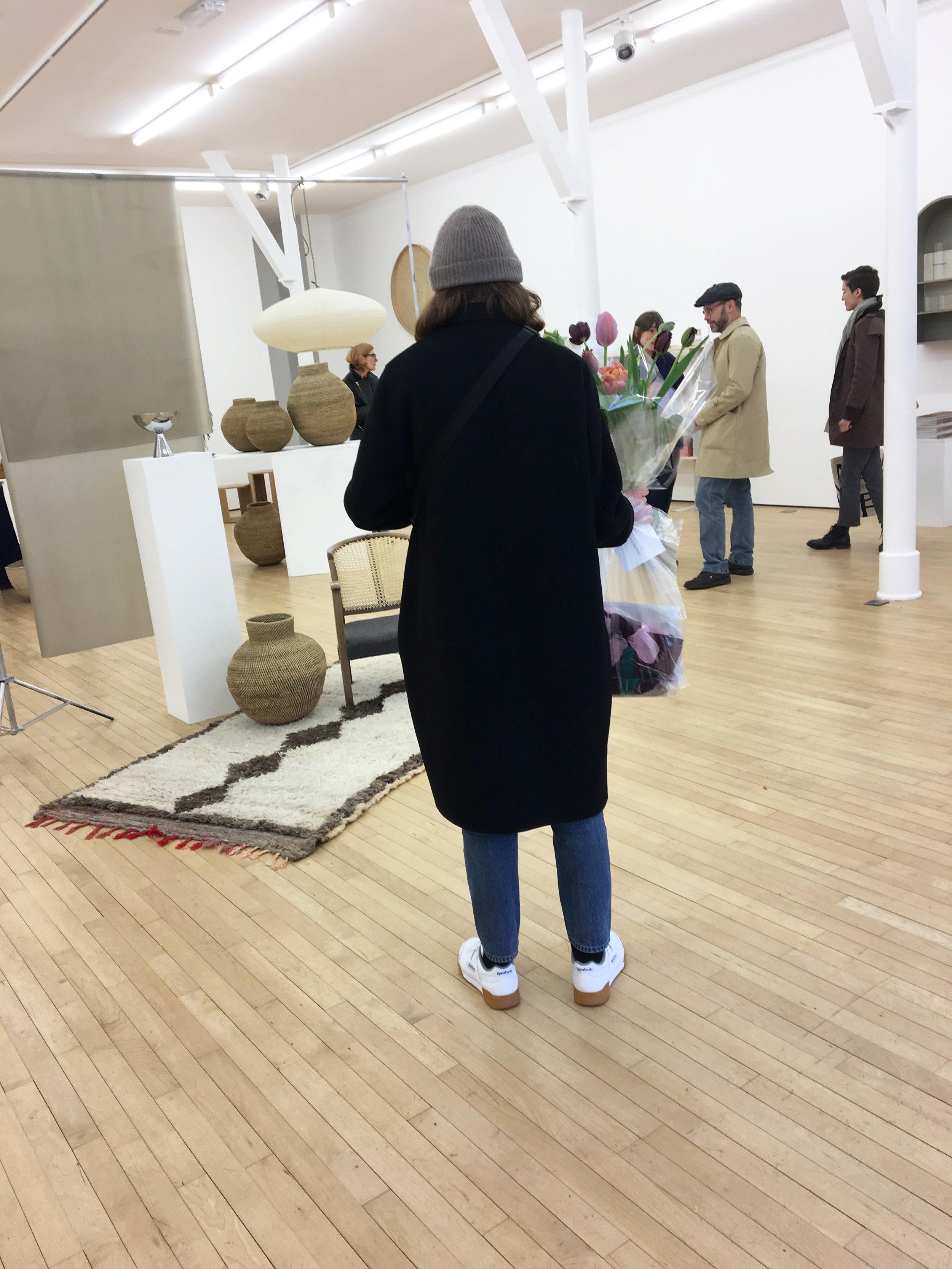 Noguchi Akari 21a pendant,  @celestial_objects ' rug,  @caro.c.wilkinson 's caned chair,  @esradandin 's steel bowl