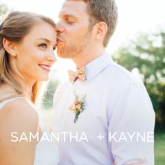 See Samantha and Kayne's DIY wedding.