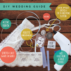 Learn how to make your own garter for your big day!