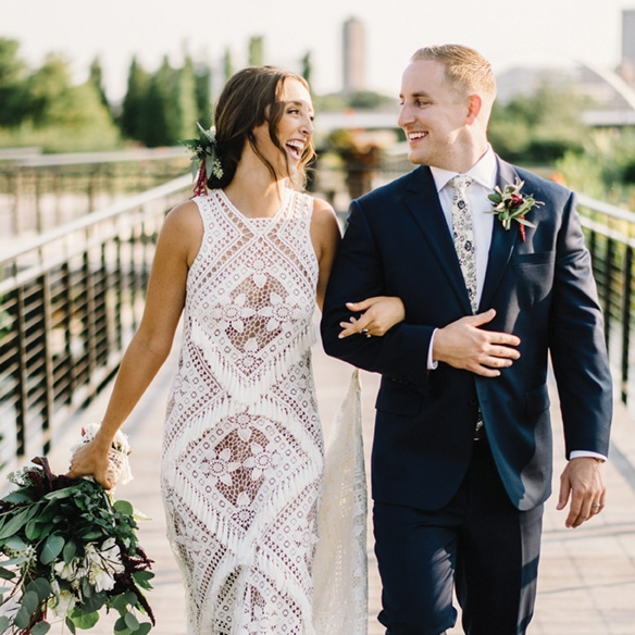 Maggie + Jake - Want a boho-botanical wedding? Get inspired here!