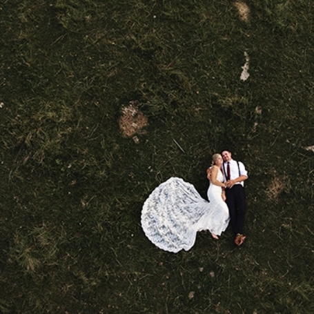 We're OBSESSED - Find love from above! See how drone shots can give you photos an unexpected angle.