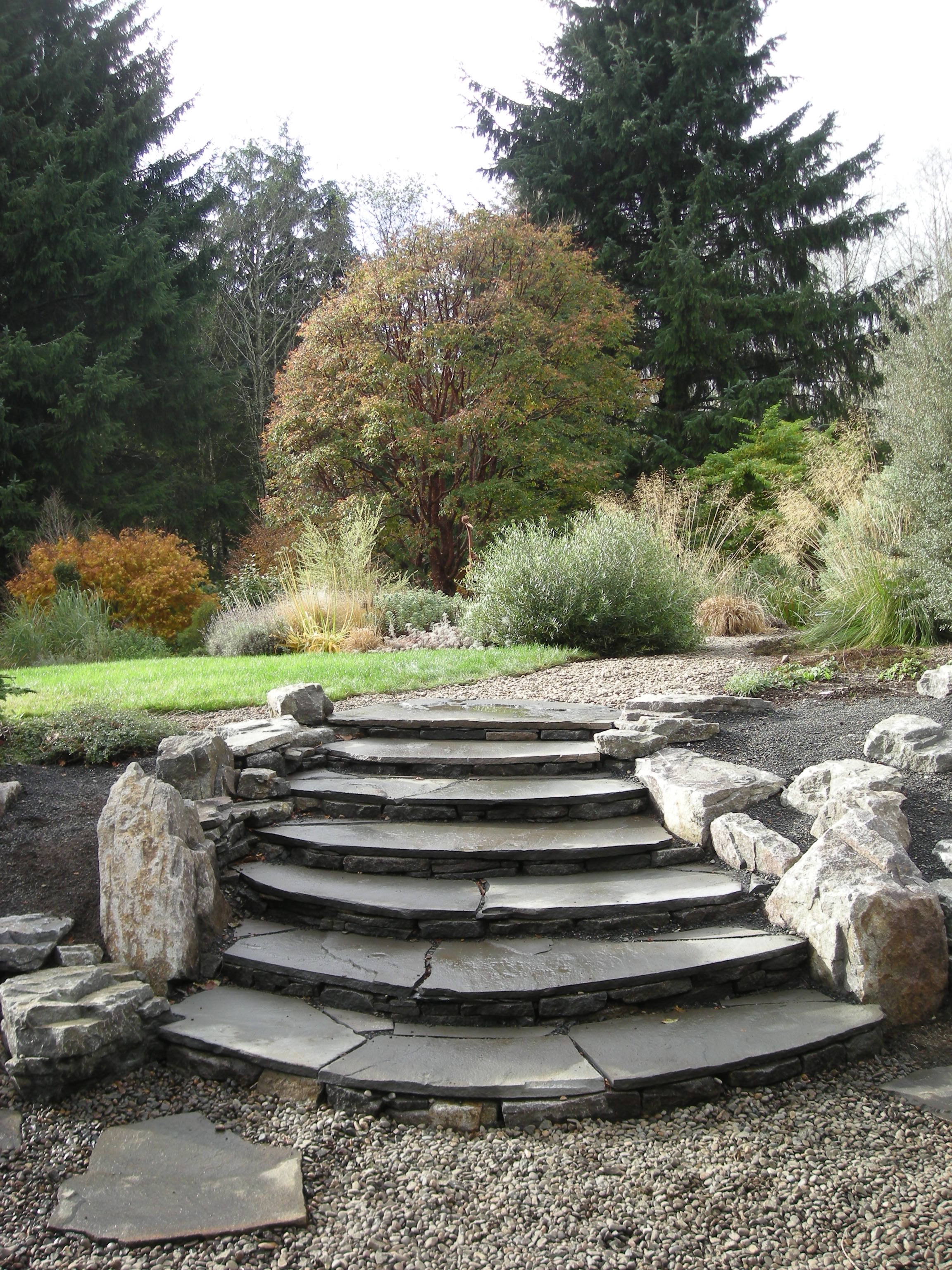 Stone Flagstone Rock Stairs Staircase Landscape Steps