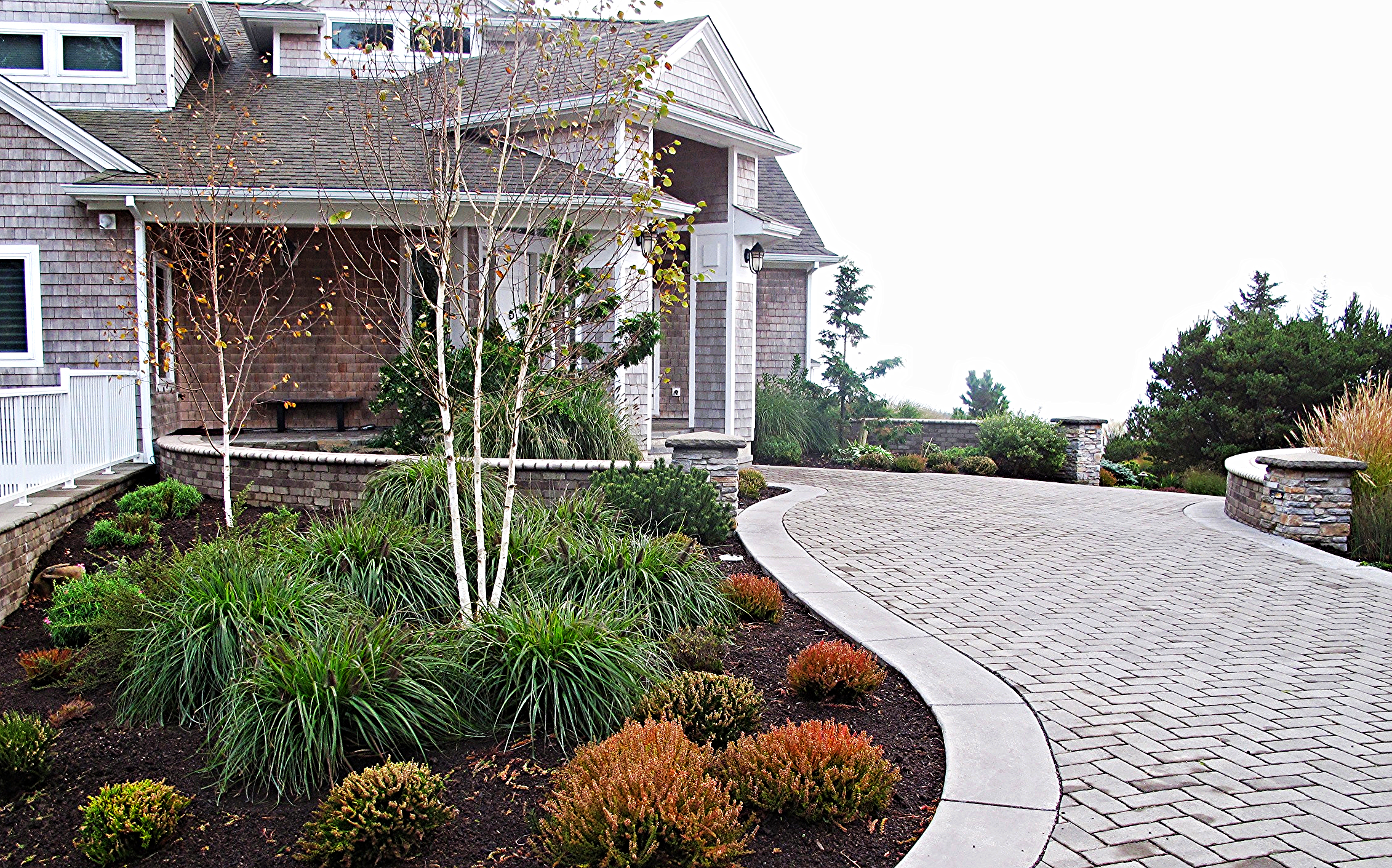 Pavers  - clean and elegant... this hardscape was done by our friends and colleagues Bros and Hoes Landscaping