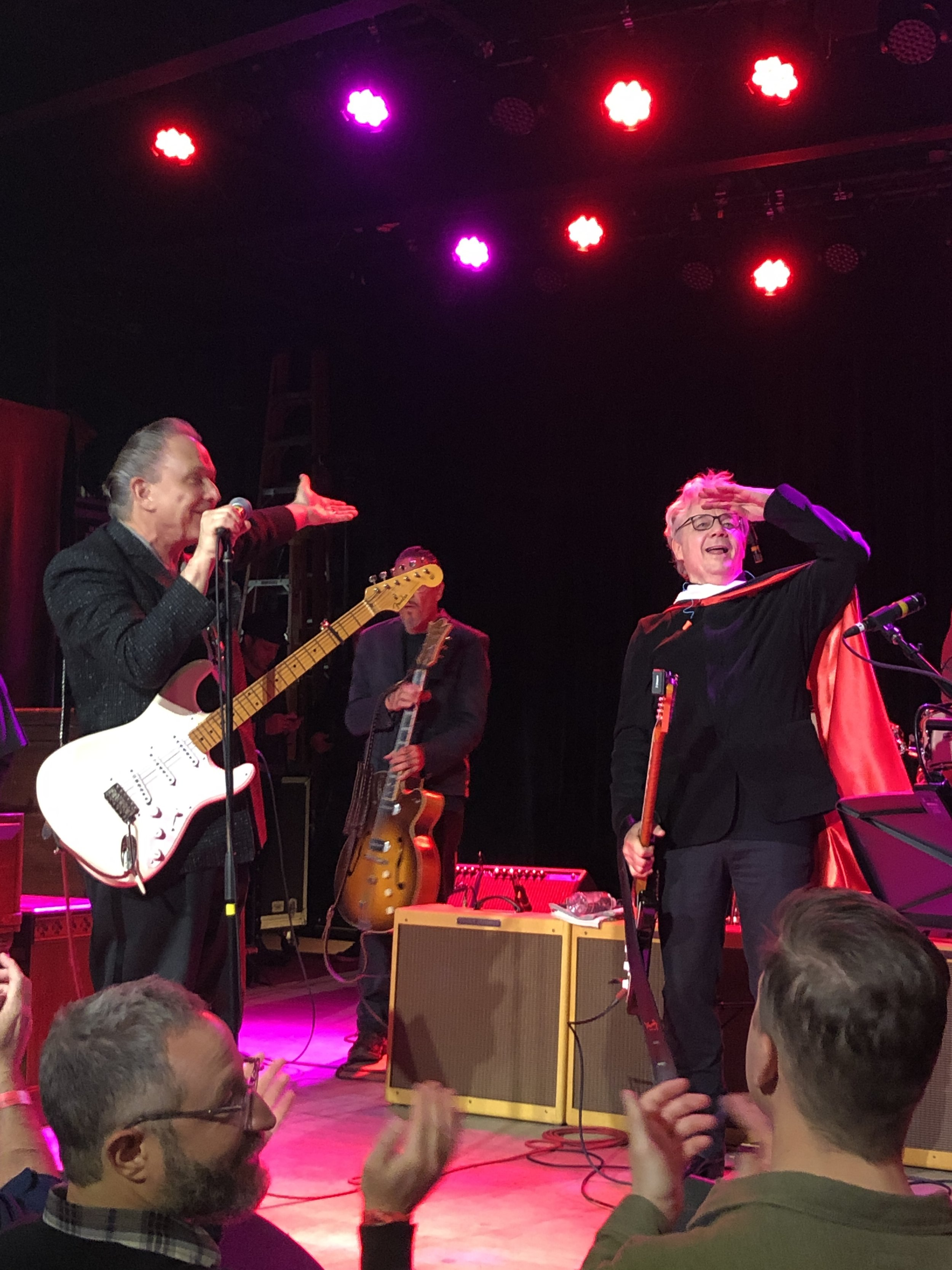 Jimmie Vaughan and Steve Miller jamming in celebration of Steve's honorary degree from the University of Wisconsin.