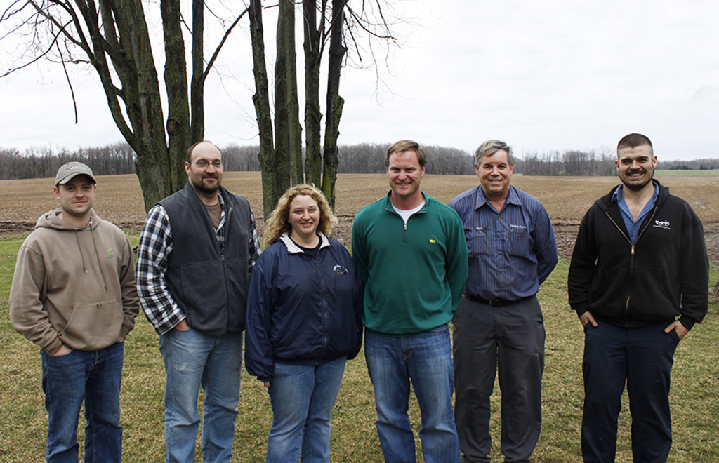 Pictured left to right: Jake Hartway, Patrick Woodworth, Janette Veazey-Post, Christian Yunker, Donn Branton, Chad Branton. Not pictured: Joe Brightly, Dennis Kirby.