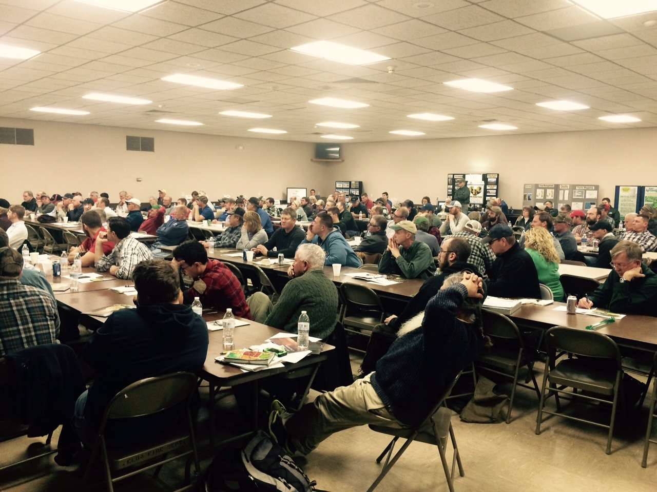 The annual meeting and soil health workshop had an excellent turnout of about 150 attendees.