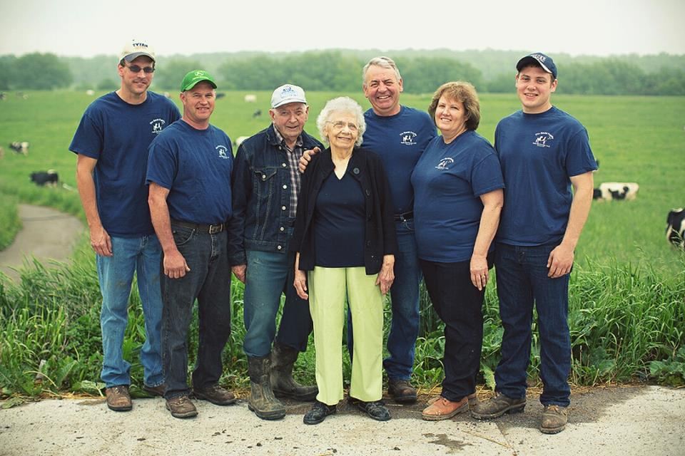 Left to Right: Eric Zinkievich, Ron Rodgers; founders Harold and Rose Gould; current partners John, Sue and Stephen Gould. Not pictured: Tim Bodine and Zak Griffith. Photo provided.